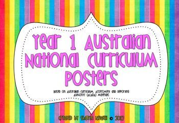 Year 1 Australian National Curriculum Posters - Miss N - TeachersPayTeachers.com