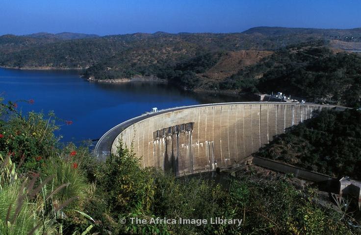 Kariba dam wall, Lake Kariba, Zimbabwe