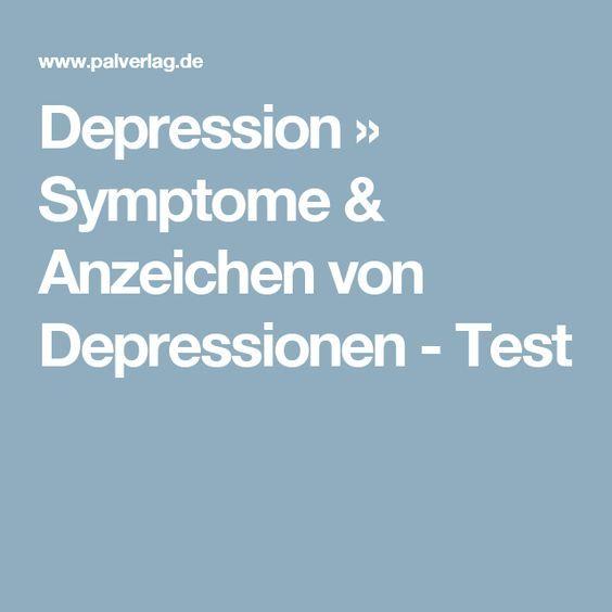 Depression » Symptome & Anzeichen von Depressionen - Test