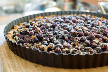 Saskatoon Berry Tart. I have made this several times and I keep coming back for more! Simple and yummy!