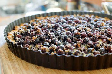 Saskatoon berry tart