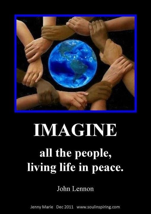 """Just imagine, because this is not just a dream!   """"But the meek will posses the earth, and they will find their exquisite delight in the abundance of PEACE.""""  Psalms 37:9,10,ll &29"""