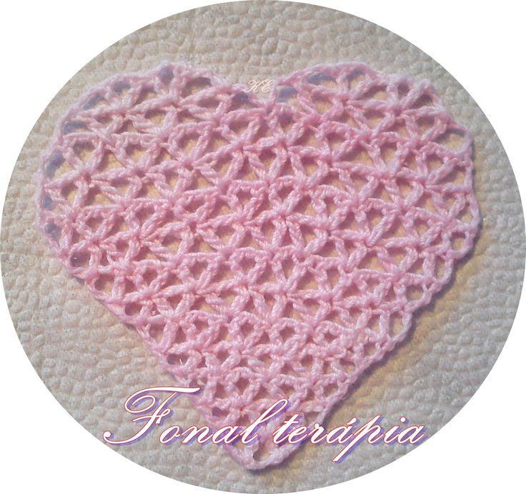 horgolt#rózsaszín#szív