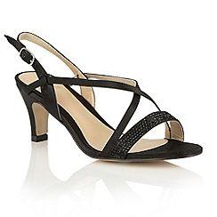Lotus - Black satin 'Miren' open toe sandals