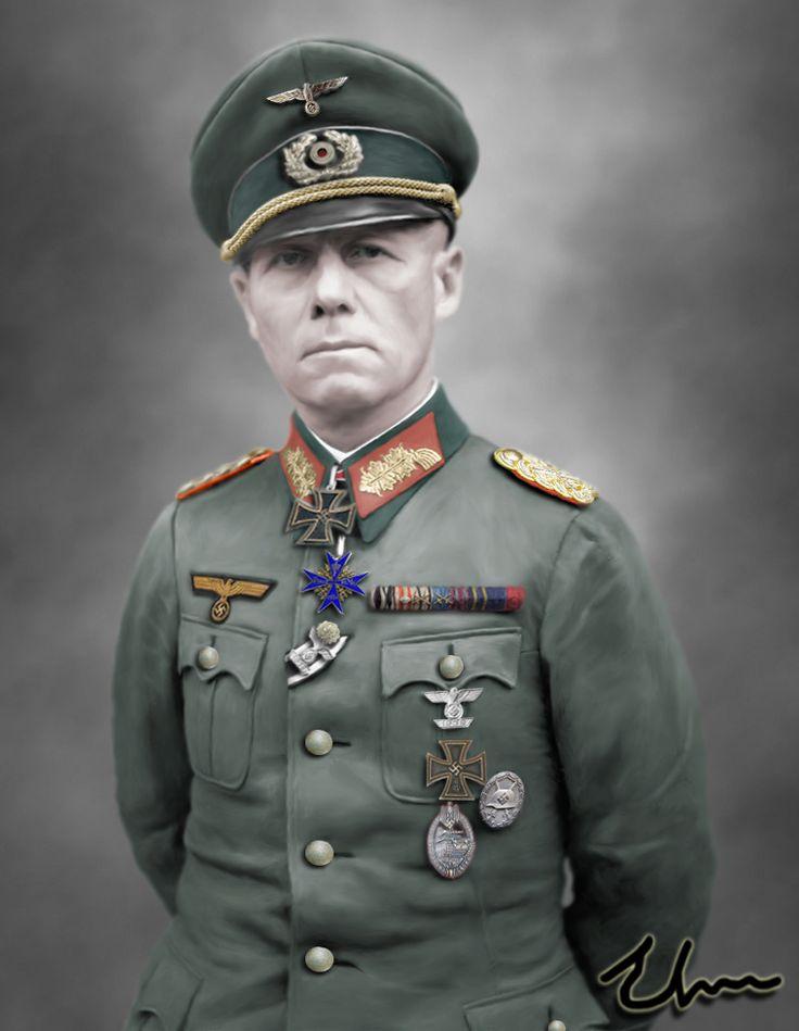 "Erwin Rommel 54. (1891 – 1944) Nickname: ""The Desert Fox"" Death: Suicide by cyanide on 14 October 1944. Más"