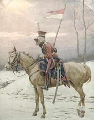 A Lancer of Napoleon's Polish Guards on Winter Patrol  Jan van Chelminski