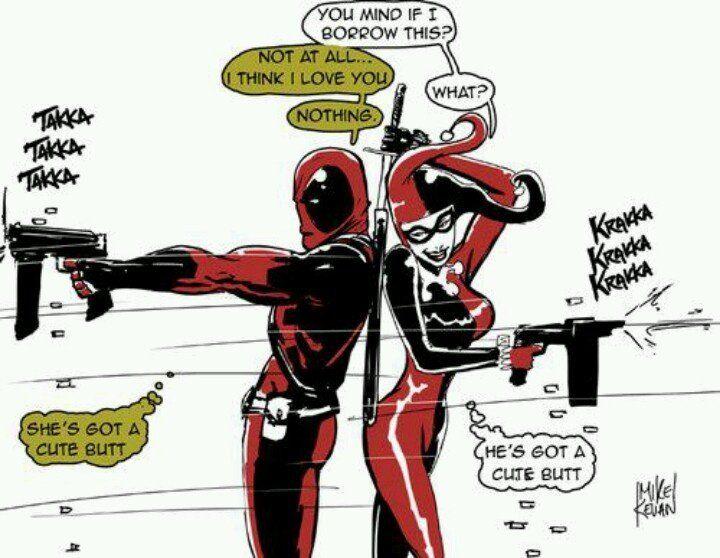joker sucks deadpool for the win.  // funny pictures - funny photos - funny images - funny pics - funny quotes - #lol #humor #funnypictures