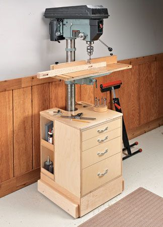 3 In 1 Drill Press Upgrade Woodsmith Plans Diy Woodshop Tools