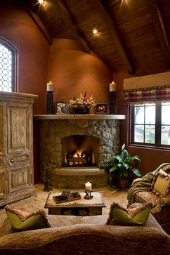 Living Room With Fireplace In The Corner 33 best decorating corner fireplaces images on pinterest