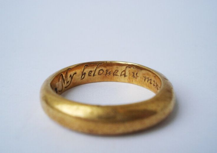 """""""My Beloved is Mine and I Am His"""" ; 17th - 18th century Gold posy ring"""