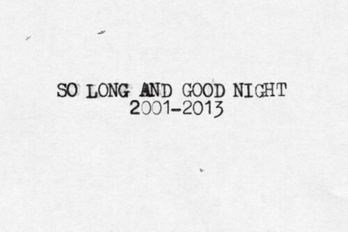 My Chemical Romance | Tumblr | Goodbye