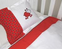 Shweshwe baby bedding by Banini Baby