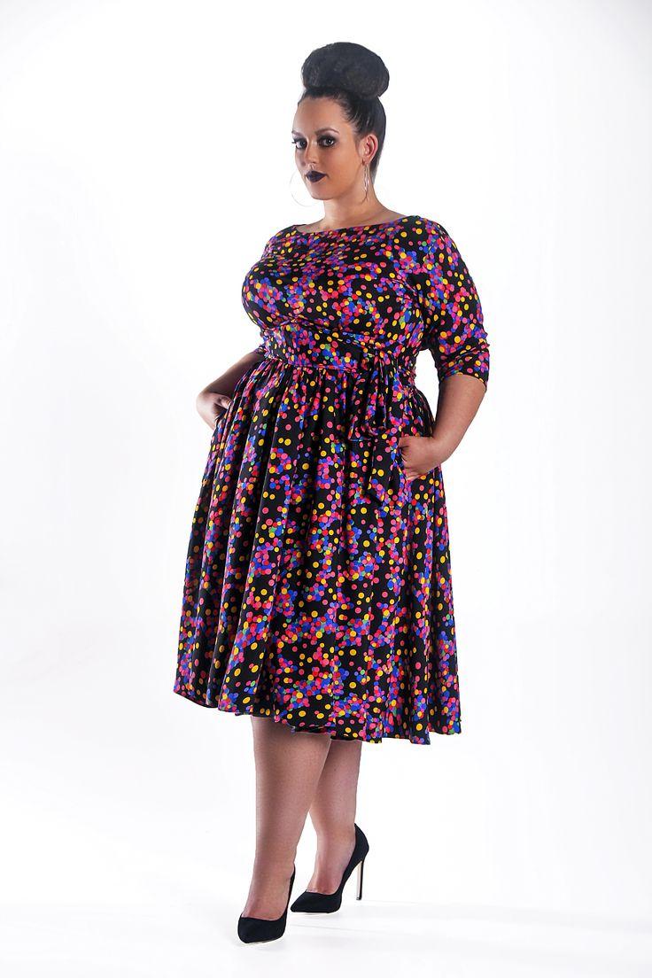 JIBRI Polka Dot Swing Dress — JIBRI
