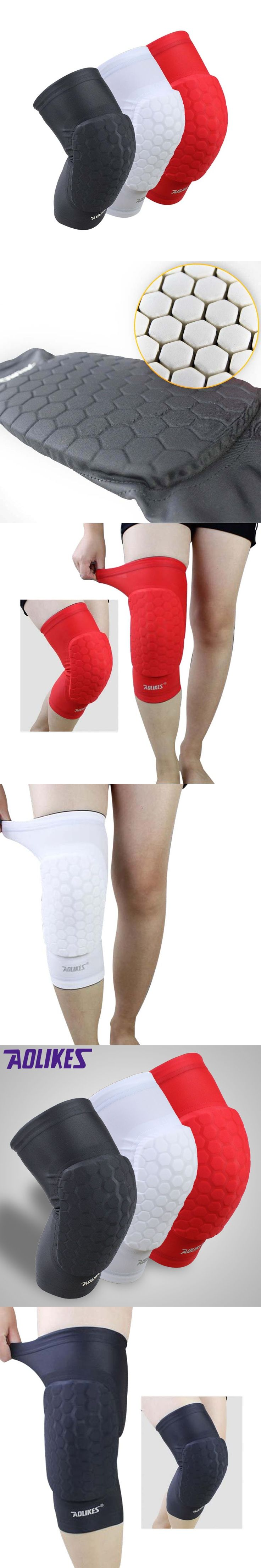 1PCS Hex Sponge Knee Pads Leg Compression Sleeve Knee Braces for Basketball Kneepad Support Sports Safety