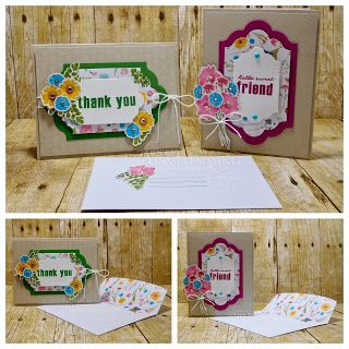 Peanuts and Peppers Papercrafting: Make It Monday - Wildflower Wishes February 2018 Paper Pumpkin Kit (Alternative Cards)