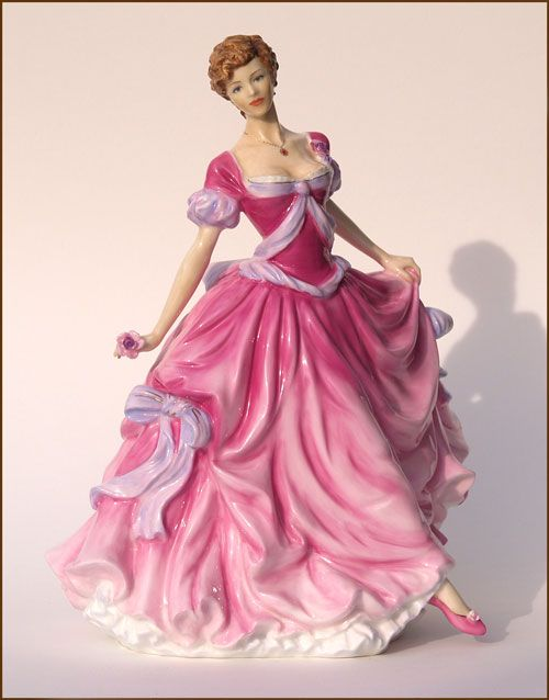Bone China Figurine. English, limited edition. How cute for a guest room done in florals and pink.