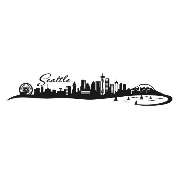 Seattle Skyline Washington Cuttable Design