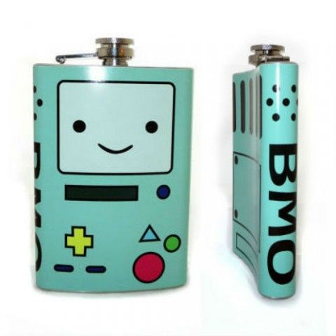 Your favorite living video game console from Adventure Time with Finn and Jake has been given the super fine flask treatment!Fill him up with your favorite...