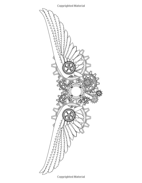 25  best ideas about steampunk wings tattoo on pinterest