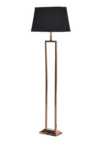 2 Leg Floor Standing Lamp with Black Shade