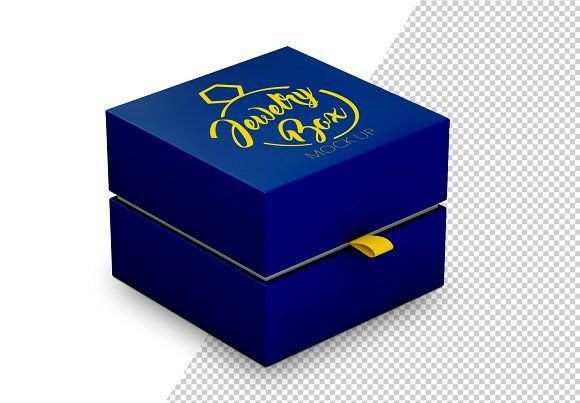 Download Jewelry Box Mockup By Mclittle Stock On Creativemarket Box Mockup Template Design Mockup Design