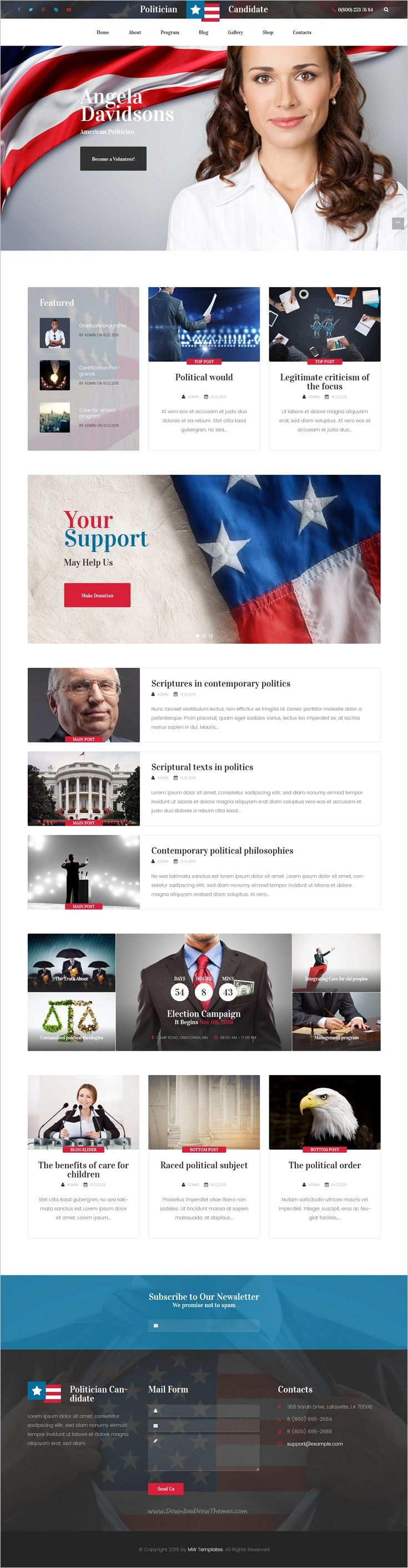 Politician is a modern and functional responsive #WordPress theme for #political #party #candidate website download now➩ https://themeforest.net/item/politician-political-party-candidate-modern-wordpress-theme/18704971?ref=Datasata