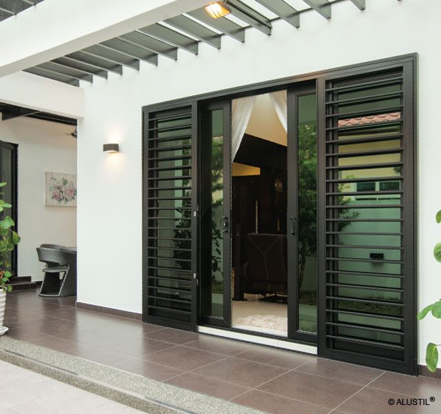 Best 25 window grill design ideas on pinterest window for Sliding main door