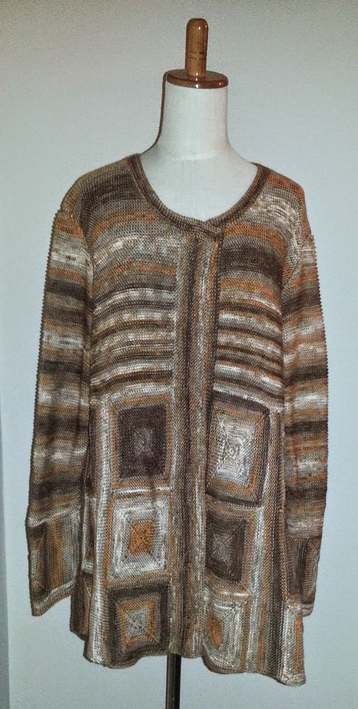 Den kreative nørkler: Mine kreationer - Jakke med ruder fra Drops model nr. 114-1 Garn: Batik acryl