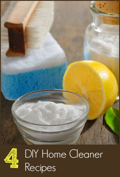 Clean your home with these 4 easy DIY Home Cleaners that use Essential Oils instead of toxic ingredients.