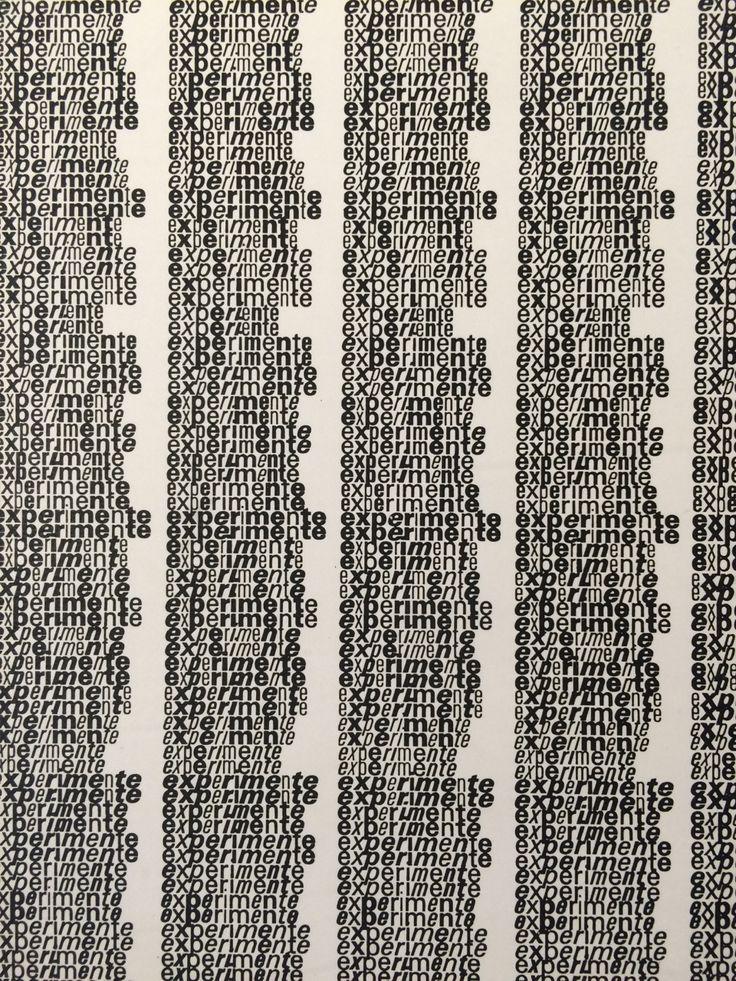 "visualkultur: "" Emil Ruder, experimente with univers """