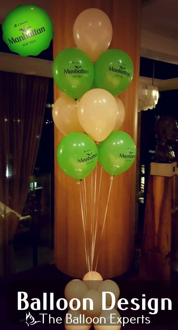 Balloon Bouquets for Manhattan Ice Tea