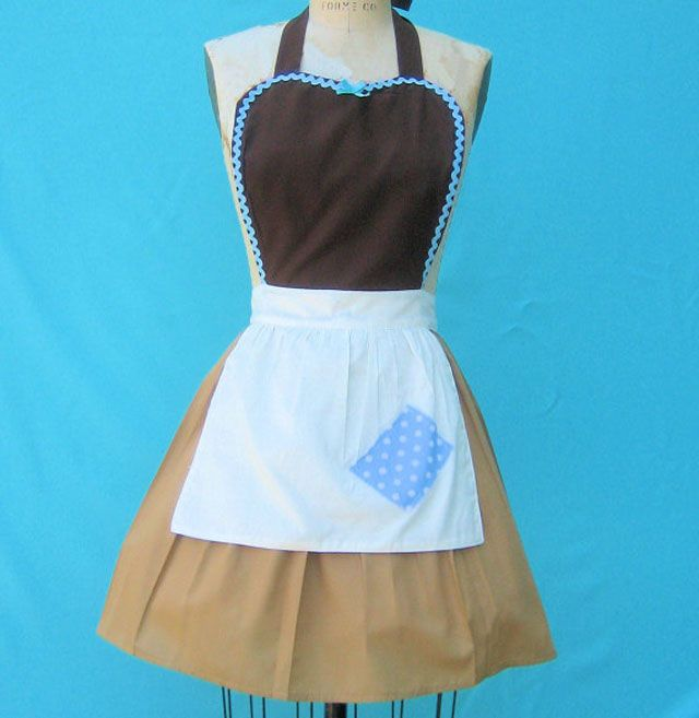 I OWN IT!!   $32 Adorable Cinderella apron – there are lots of others, I think this is my favorite :-). (Source: Etsy/loverdoversclothing)