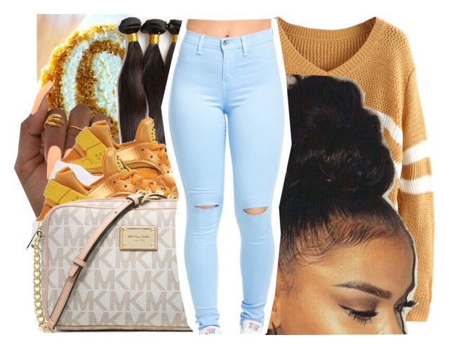 """""""pumpkin roll"""" by trapsoul4life ❤ liked on Polyvore featuring NIKE and Michael Kors"""