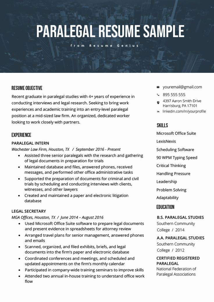 25 Entry Level Paralegal Resume in 2020 Download resume