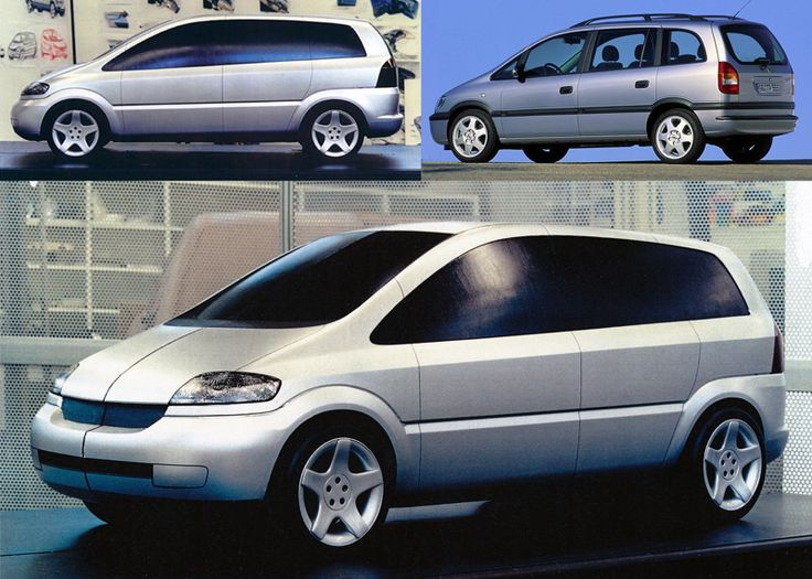 OG   1997 Opel Zafira Mk1   Scale model selected for full-size clay development in 1994