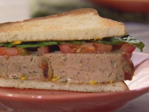 """His and Hers Turkey Meatloaf Sandwich (Boxed Lunch) - Trisha Yearwood, """"Trisha's Southern Kitchen"""" on the Food Network."""