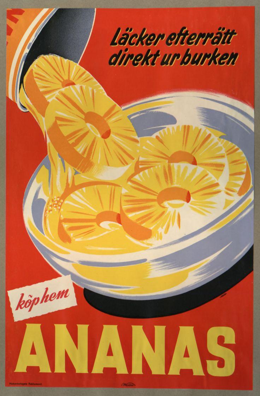 vintage Ananas tinned pineapple advertisement