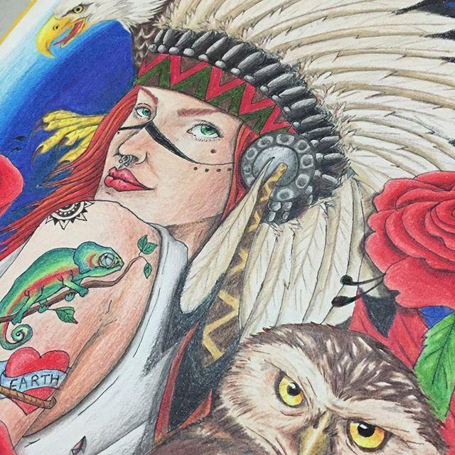 #apache #desenho #art #lapisdecor