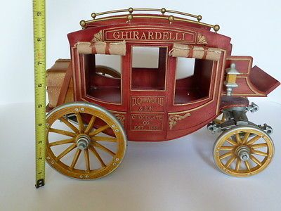 Dollhouse Miniatures Ghirardelli Stagecoach Carriage Vehicle Stage Coach