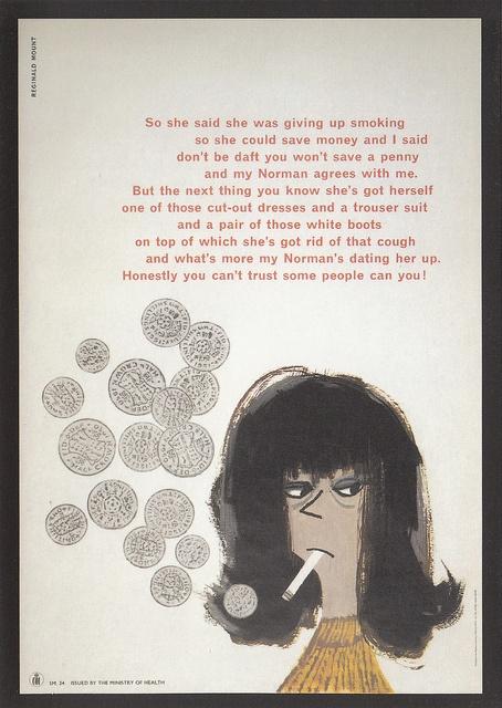 British Government anti-smoking poster (1960s)