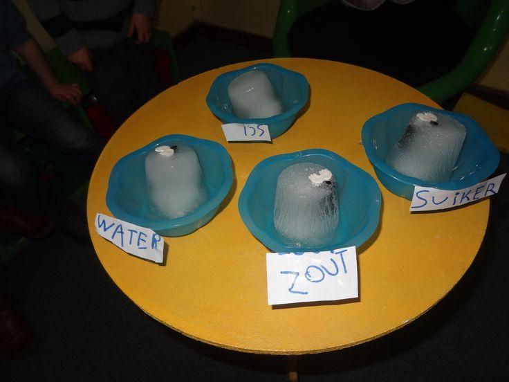 Proefje: pinguïns in ijs - welke smelt het snelst?(JufJulide)