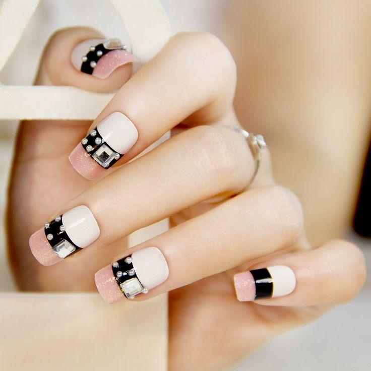 190 best Uñas rosas images on Pinterest | Nail scissors, Fingernail ...
