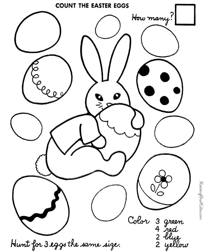 Easter color by number printable | Teaching Tyler | Pinterest