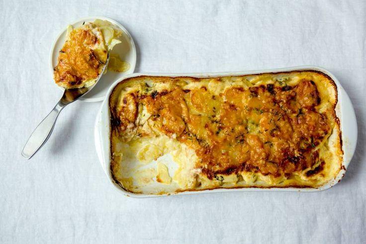 Kijk wat een lekker recept ik heb gevonden op Allerhande! Aardappel-knolselderijgratin