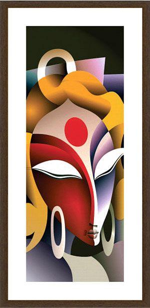 Modern Art Paintings Of Lord Krishna And Radha Photo painting, ganesha painting, radha-krishna painting