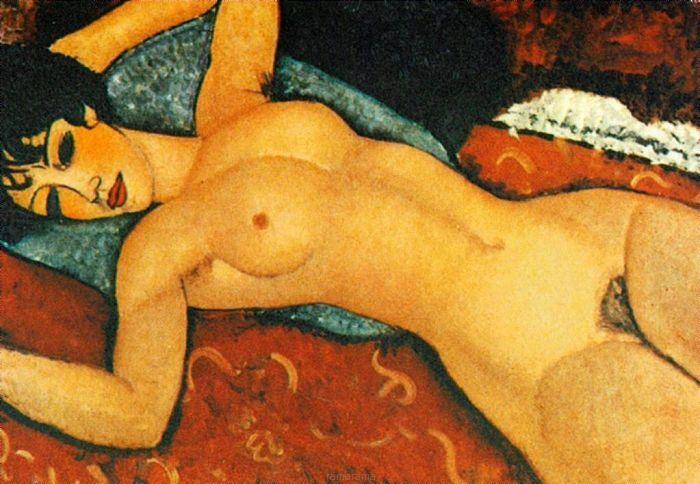 Sleeping Nude with Arms Open - Amadeo Modigliani - Obrazy olejne i dekoracje na ścianę - RamaRama.pl