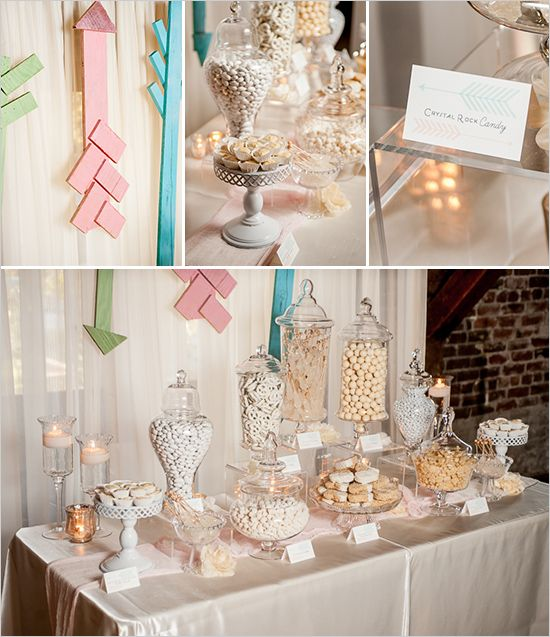 All White Candy Buffet - Candee by Sandee  www.candeebysandee.com  #candybuffet  #candy #wedding