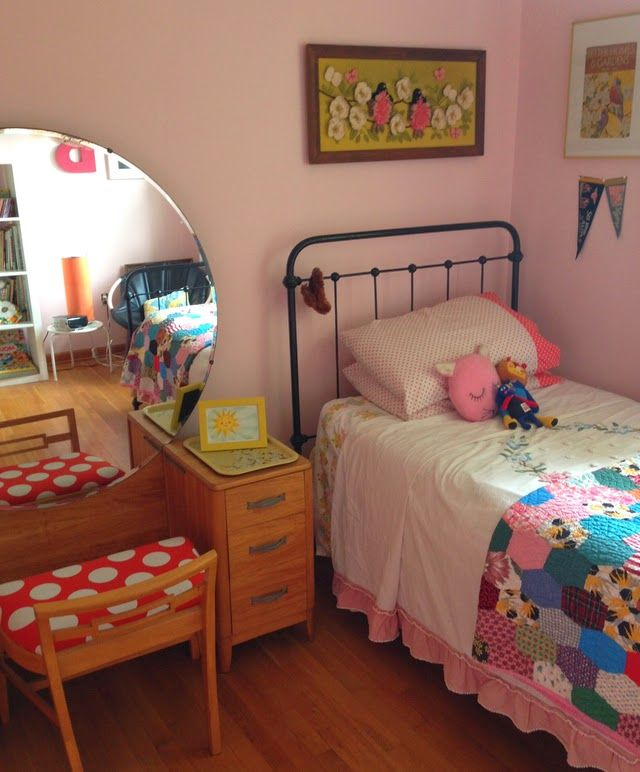the boo and the boy: eclectic kids' rooms.  my grandma has this makeup 'dresser'....