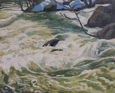 Stream in Spate by Edwin Holgate