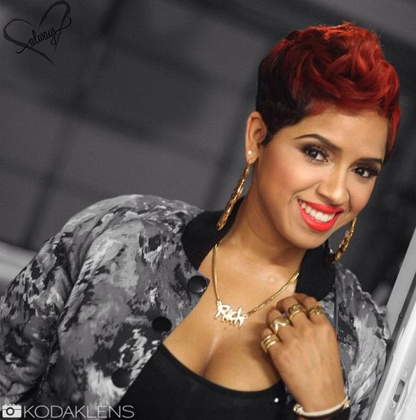 Ravaughn's hair is ALWAYS on point! Loving that red hunny!